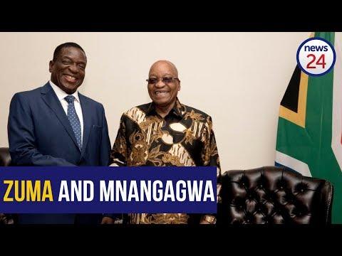 WATCH: Mnangagwa meets Zuma
