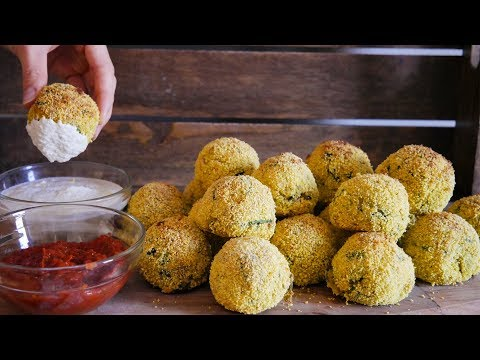 CRISPY POTATO SPINACH BALLS | EASY VEGAN RECIPE/APPETIZER
