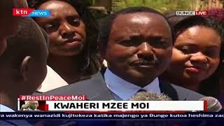 Former Vice President Kalonzo Musyoka pays tribute to Mzee Moi