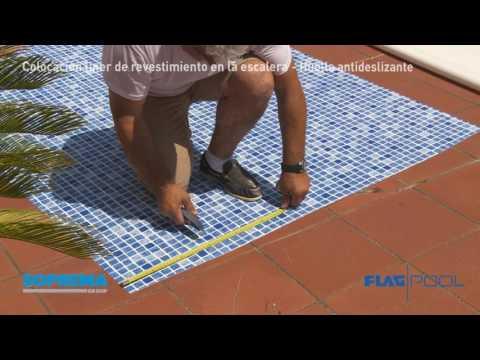 FLAGPOOL - cap 3 - Colocación liner de revestimiento en la escalera