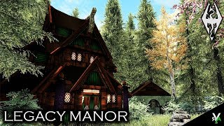 MAP- LEGACY MANOR: Unique Player Home!!- Xbox Modded Skyrim Mod Showcase