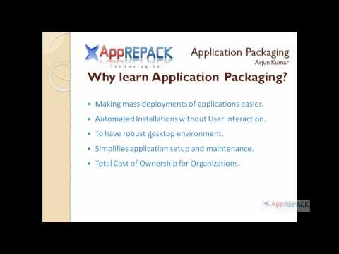 Application Packaging Training Overview - YouTube