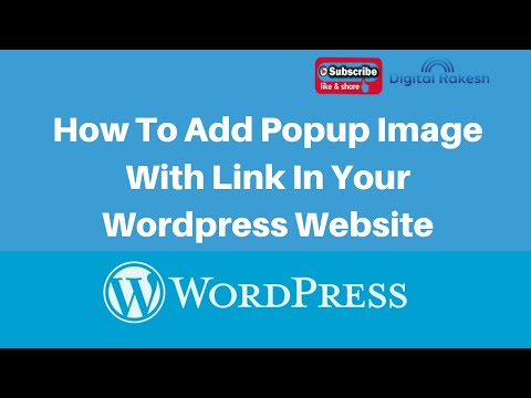 How To Add Popup Image With Link In Your Wordpress Website