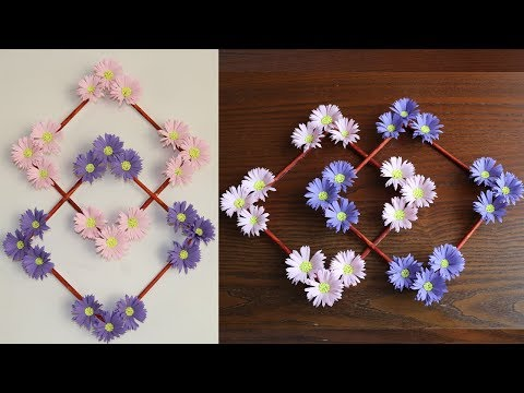 Paper Flower Wall Hanging – DIY Hanging Flower  – Wall Decoration ideas