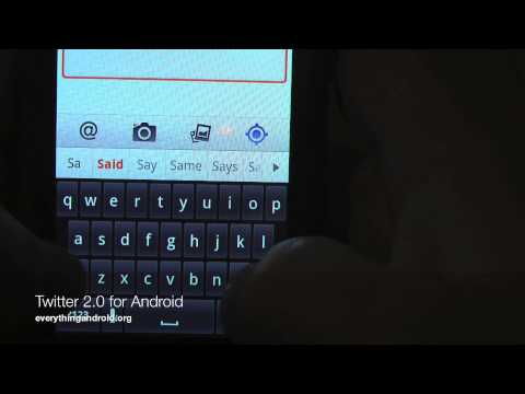 Twitter 2.0 App For Android Previewed On Video