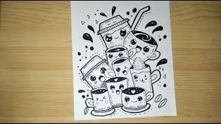 Cara Membuat Doodle Art Coffe Dengan Mudah