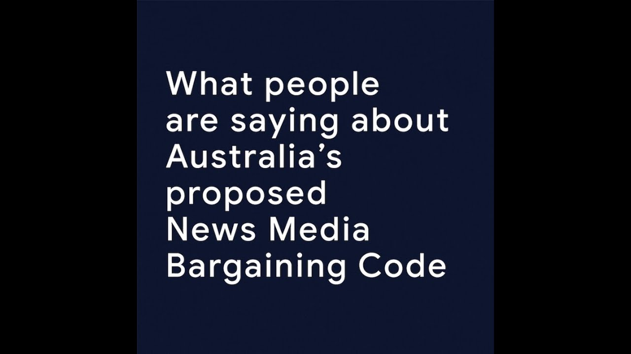 What people are saying about Australia's proposed News Media Bargaining Code