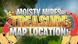 Moisty Mire Treasure Map Loot Location! Fortnite Battle Royale Guide!