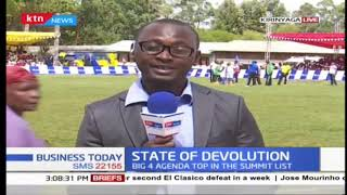 Delegates take part in football match at 6th Devolution Conference in Kirinyaga