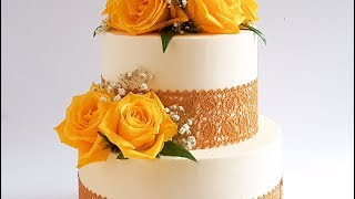 Continental LACE Engagement CAKE- Rosies Dessert Spot