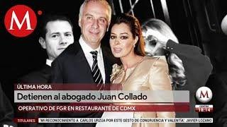 Juan Collado es detenido por delincuencia organizada
