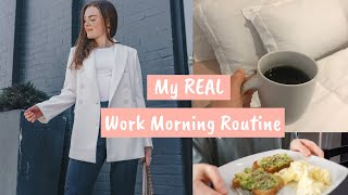 WORK MORNING ROUTINE: GRWM For My 9 5 Job!
