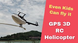 FlyWing FW450 GPS RC Helicopter in Action Auto and 3D flight modes