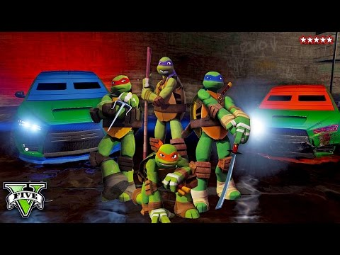 GTA 5 TMNT!! Being AWESOME Teenage Mutant Ninja Turtles In GTA @ 60FPS (GTA 5 Funny Moments)