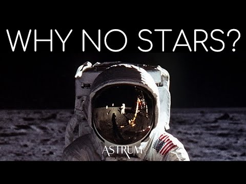 Why are there no stars in space photos?