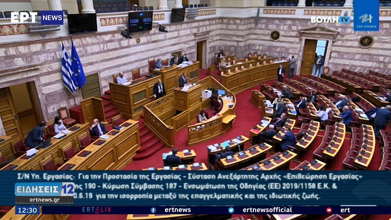 Βουλή: Ενστάσεις αντισυνταγματικότητας με την έναρξη της συζήτησης του εργασιακού | 14/06/2021 | ΕΡΤ