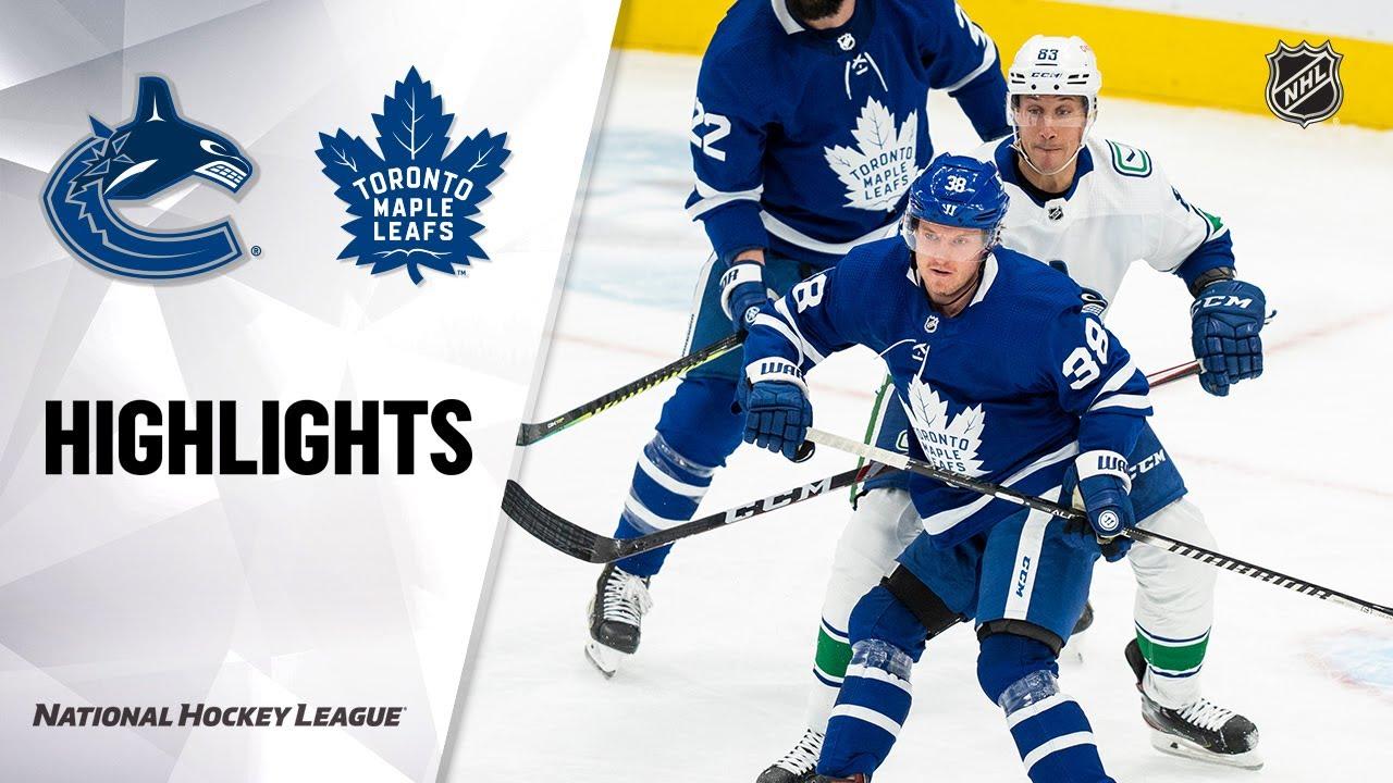 Maple Leafs vs Canucks | Monday, February 08, 2021