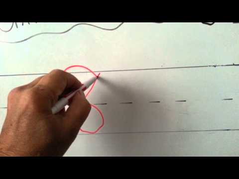 Screenshot of video: Teach a lefty to write