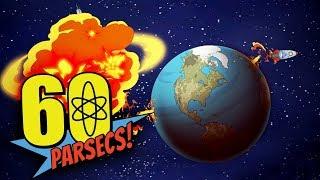 60 Parsecs - Alien Robotic Planet Found! - 44 Day Journey - 60 Parsecs Gameplay (60 Seconds Sequel)