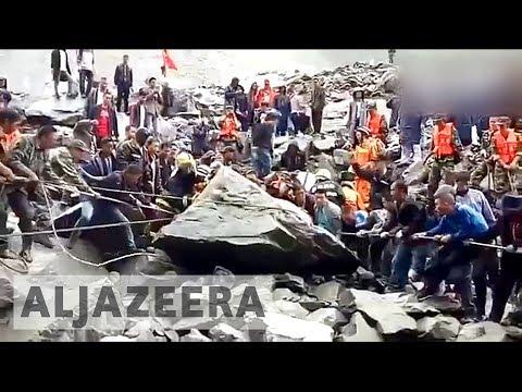 Over 100 missing after a massive landslide in Sichuan's Maoxin