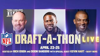 Join co-hosts @richeisen and @deionsanders with special guest @kevinhart4real for this second-screen experience as we raise awareness and donations for COVID-19 relief. Learn more at: nfl.com/relief #DraftAThon  Subscribe to NFL: http://j.mp/1L0bVBu  Check out our other channels: Para más contenido de la NFL en Español, suscríbete a https://www.youtube.com/nflenespanol NFL Fantasy Football https://www.youtube.com/nflfantasyfootball NFL Vault http://www.youtube.com/nflvault NFL Network http://www.youtube.com/nflnetwork NFL Films http://www.youtube.com/nflfilms NFL Rush http://www.youtube.com/nflrush NFL Play Football https://www.youtube.com/playfootball NFL Podcasts https://www.youtube.com/nflpodcasts  #NFL #Football #AmericanFootball