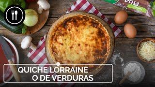 Quiche Lorraine o de verduras: receta sencilla para hornear este clásico