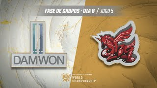 Mundial 2019: Fase de Grupos - Dia 8 | DAMWON Gaming x ahq eSports Club (Jogo 5)