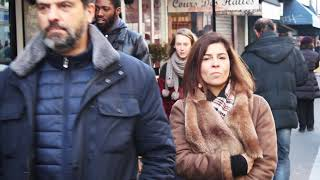 Forty Plus Weekend Outfits Ideas. End Of Winter Parisian Chic Street Style. 4k