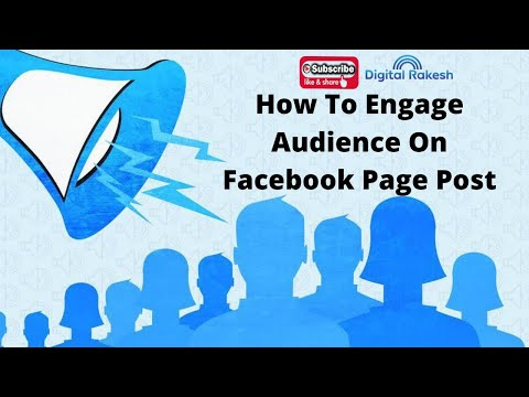 How to engage audience on facebook page post