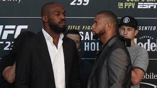 Jon Jones Vs. Thiago Santos   UFC 239 Media Day Face Off
