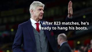 After 823 Premier League games, more than any other manager, Arsene Wenger now ready to leave Arsena