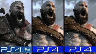 God of War 4 | PS4 Pro VS PS4 Slim VS PS4 | Graphics Comparison