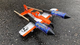 Rocket powered Disney Planes Dusty !! Amazing Flight