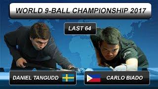 Daniel Tangudd - Carlo Biado | World 9-BALL Championship 2017 | Last 64