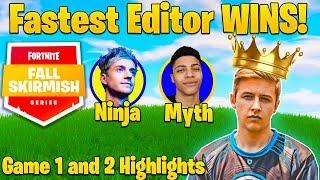 Fortnite #FallSkirmish Week 1 - Symfuhny (Fastest Editor) Wins! - Ninja RAGE! (Game 1-2 Highlights)