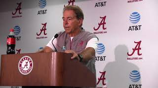 Nick Saban Press Conf  Aug18 2018