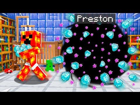 7 Ways to Steal Baby Preston's Diamonds! - Minecraft