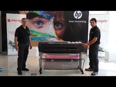 Hướng dẫn lắp đặt máy in HP DesignJet T830