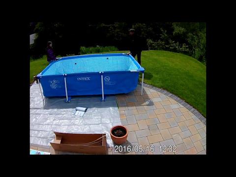 Poolaufbau - Intex Frame Pool