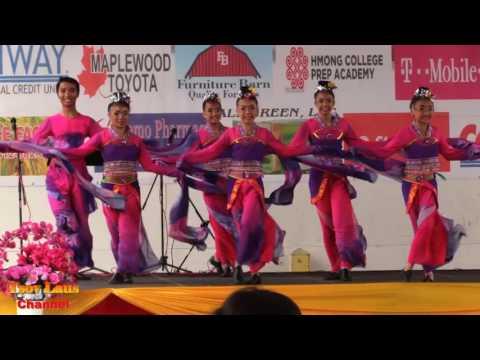 Dancer Group Dancing At Hmong Town Festival June 24 25,2017