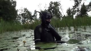 Подводная Охота на Укромном Озере.   Шкиль Игорь