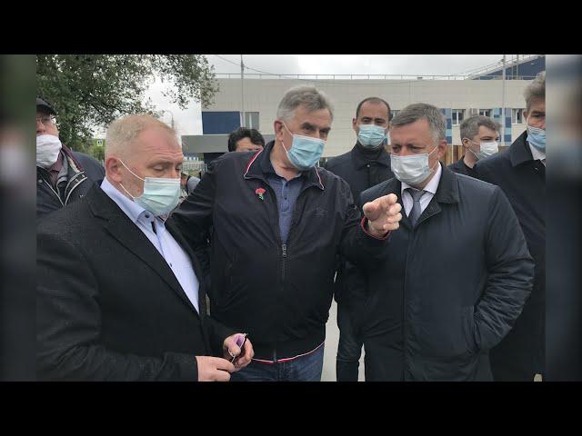 Игорь Кобзев проверил как идёт строительство очистных сооружений правого берега Ангары в Иркутске