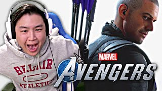 Marvels Avengers - Official HAWKEYE Reveal Trailer & MORE!! [REACTION]