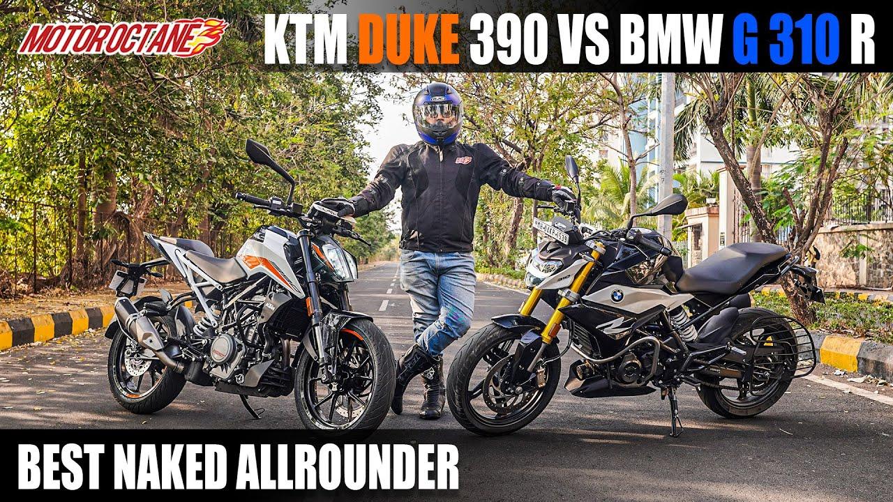 Motoroctane Youtube Video - Best Naked Allrounder - BMW G310R vs KTM Duke 390