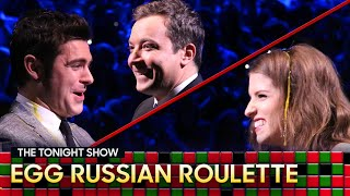 Tonight Show Egg Russian Roulette with Anna KendrickandZac Efron thumbnail