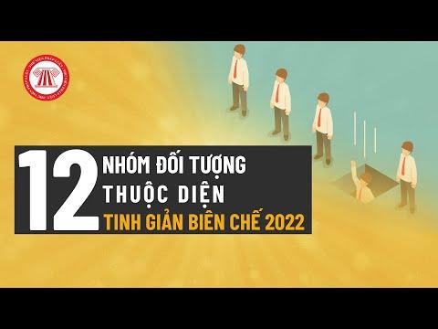 12 Đối Tượng Thuộc Diện Tinh Giảm Biên Chế 2022