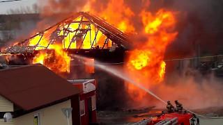 Пожар в г.Кондопоге 5 мая 2017 года.