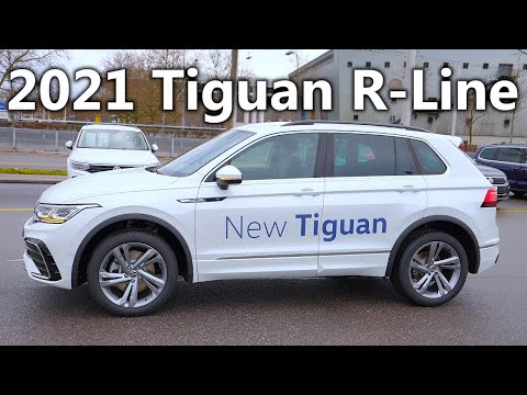 New Volkswagen TIGUAN R-Line 2021 Review Interior Exterior