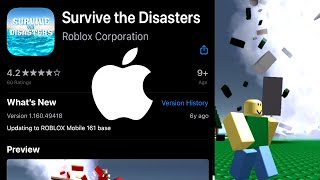 There was a Natural Disaster Survival APP... (Roblox)