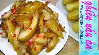 Cách Làm DƯA MẮM CHAY VÀNG GIÒN Nhanh Ăn Và Để Được Lâu By Duyen's Kitchen | Ghiền Nấu Ăn
